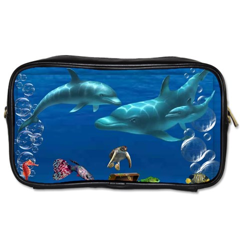 Dolphins By Chaido   Toiletries Bag (one Side)   Qfdy2akbrmzt   Www Artscow Com Front