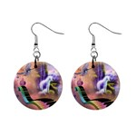 unicorn - 1  Button Earrings