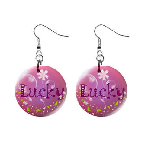 Lucky By Chaido   1  Button Earrings   Jyxjarnp27wx   Www Artscow Com Front