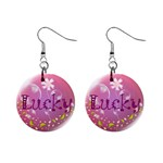 Lucky - 1  Button Earrings