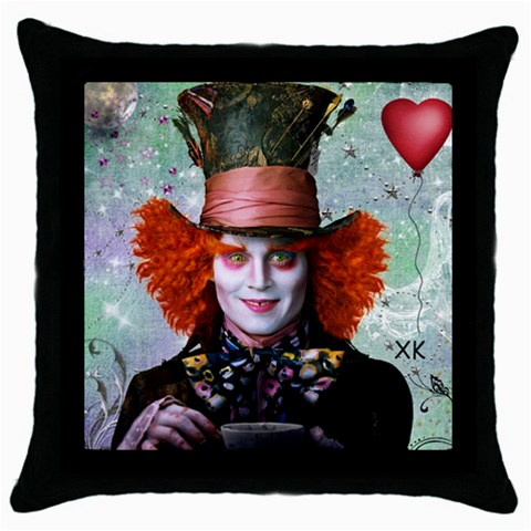 Alice In Wonderland 4 By Chaido   Throw Pillow Case (black)   Wsc89xibpda6   Www Artscow Com Front