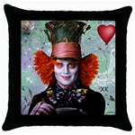 Alice in wonderland 4 - Throw Pillow Case (Black)