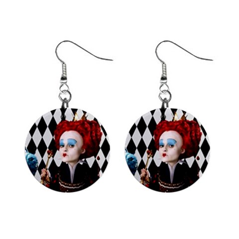 The Red Queen 3 By Chaido   1  Button Earrings   Hj5fqd3o7enp   Www Artscow Com Front