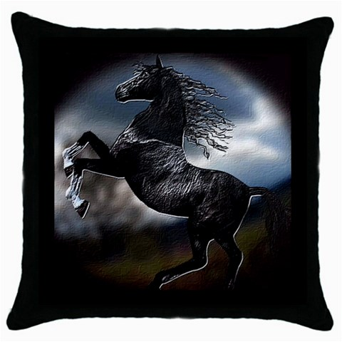 Horse1 By Chaido   Throw Pillow Case (black)   T6qpxsfy0bq8   Www Artscow Com Front