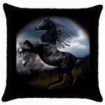 horse1 - Throw Pillow Case (Black)