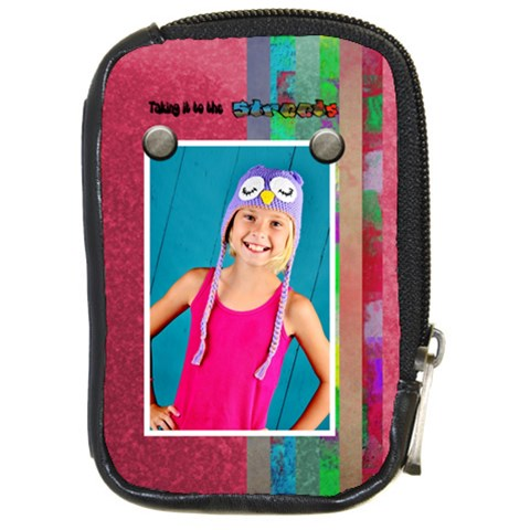 Taking It To The Streets Camera Case By Danielle Christiansen   Compact Camera Leather Case   10mt9e7hl14b   Www Artscow Com Front