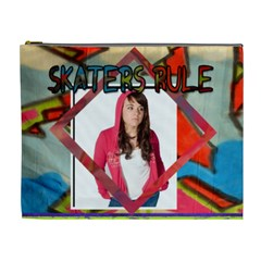 Skaters Rule Cosmetic Case By Danielle Christiansen   Cosmetic Bag (xl)   92dwx7dqjm7z   Www Artscow Com Front
