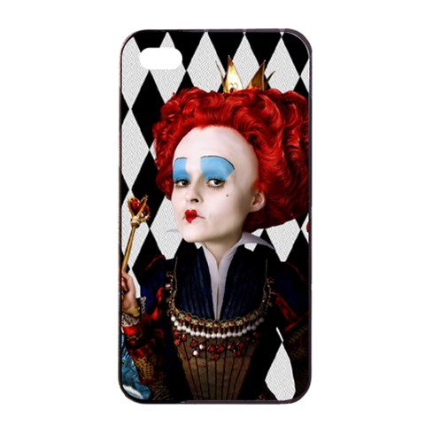 Redqueen Apple Iphone 4/4 S By Chaido   Apple Iphone 4/4s Seamless Case (black)   Esdfa8fbn8ti   Www Artscow Com Front