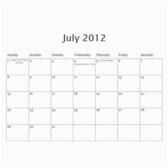 Mom By Alisha   Wall Calendar 11  X 8 5  (12 Months)   Isf4lmqa9vob   Www Artscow Com Jul 2012