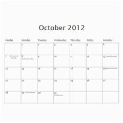 Mom By Alisha   Wall Calendar 11  X 8 5  (12 Months)   Isf4lmqa9vob   Www Artscow Com Oct 2012