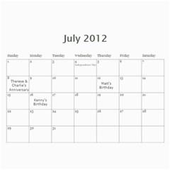 12calendar By Therese   Wall Calendar 11  X 8 5  (18 Months)   Yw41v800tgew   Www Artscow Com Jul 2012
