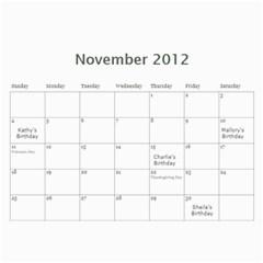 12calendar By Therese   Wall Calendar 11  X 8 5  (18 Months)   Yw41v800tgew   Www Artscow Com Nov 2012