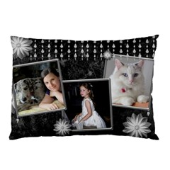 Black Marble Pillow Case(2 Sided) With Diamonds By Deborah   Pillow Case (two Sides)   Mbdwpykxse4a   Www Artscow Com Front