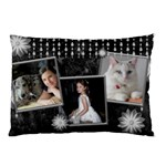 Black marble Pillow Case(2 sided) with diamonds - Pillow Case (Two Sides)