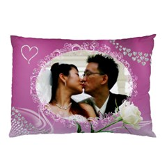Loving Pink Pillow Case (2 Sided) By Deborah   Pillow Case (two Sides)   K4t8g55wzr06   Www Artscow Com Front