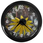 Rudbeckia Wall Clock (Black)