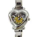 Rudbeckia Heart Italian Charm Watch