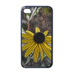 Rudbeckia Apple iPhone 4 Case (Black)