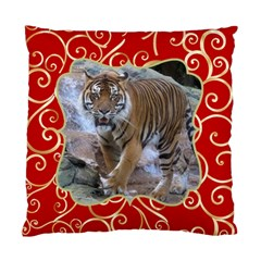 Red And Gold (2 Sided) Cushion By Deborah   Standard Cushion Case (two Sides)   Om38zpr0b7bz   Www Artscow Com Front