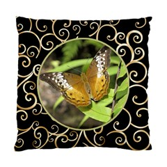 Black And Gold (2 Sided) Cushion By Deborah   Standard Cushion Case (two Sides)   W93hnl8hrz5l   Www Artscow Com Front
