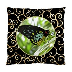 Black And Gold (2 Sided) Cushion By Deborah   Standard Cushion Case (two Sides)   W93hnl8hrz5l   Www Artscow Com Back