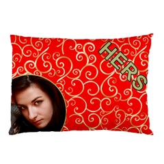 Hers Red And Gold Pillow Case (2 Sided) By Deborah   Pillow Case (two Sides)   Lrkyxhb2w93i   Www Artscow Com Back