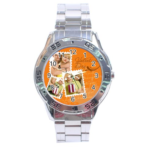 Love By May   Stainless Steel Analogue Watch   Hjrsow653s9k   Www Artscow Com Front