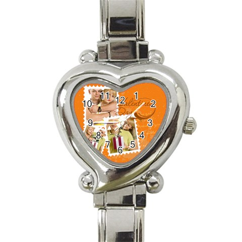 Love By May   Heart Italian Charm Watch   4n2poxvurzq3   Www Artscow Com Front