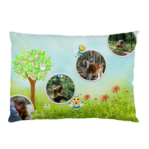 My Back Yard Pillow Case 1 By Snackpackgu   Pillow Case   U0d5u0lqk4j6   Www Artscow Com 26.62 x18.9 Pillow Case