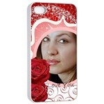 i love you - Apple iPhone 4/4s Seamless Case (White)