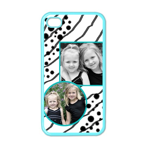 Iphone 4 Case Black And Turquoise By Amanda Bunn   Apple Iphone 4 Case (color)   Swqueby6vxw0   Www Artscow Com Front