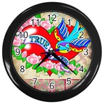 True Love Wall Clock (Black)