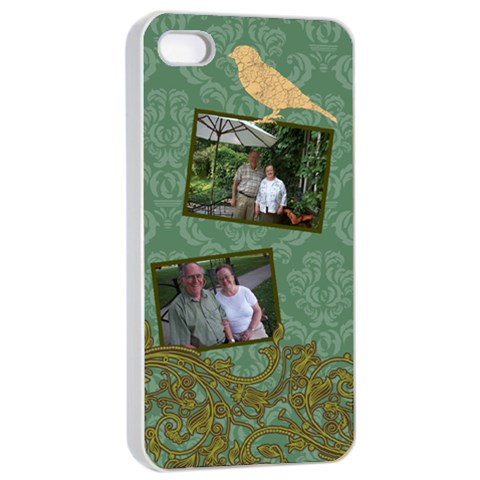 Deco Bird Apple Iphone 4/4s Seamless Case (white) By Klh   Apple Iphone 4/4s Seamless Case (white)   Dc7qkz7p2gl8   Www Artscow Com Front