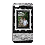 Elegant Black & White Apple iPhone 4/4s Seamless Case Black - Apple iPhone 4/4s Seamless Case (Black)