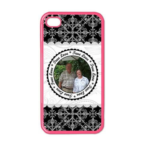 True Love Black, White, & Pink Apple Iphone Case (color) By Klh   Apple Iphone 4 Case (color)   09dlij6lpmky   Www Artscow Com Front