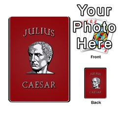 Julius Caesar Cards By Stephen   Multi Purpose Cards (rectangle)   Aoq5yut7ybht   Www Artscow Com Back 50