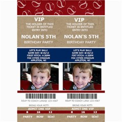 Sports Ticket Invite By Lana Laflen   5  X 7  Photo Cards   5dkz707l3jt4   Www Artscow Com 7 x5 Photo Card - 3
