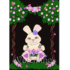 Valentine Bunny Card By Claire Mcallen   Greeting Card 5  X 7    Vgodhoztj866   Www Artscow Com Front Cover