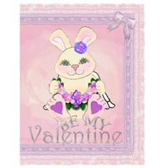 Angel Bunny Pink Valentine Card By Claire Mcallen   Greeting Card 4 5  X 6    Htmcb1z3tboh   Www Artscow Com Front Cover