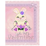 Angel Bunny Pink Valentine Card - Greeting Card 4.5  x 6