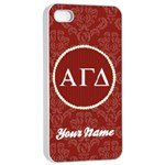 Alpha Gamma Delta Sorority iPhone 4/4s Case - Apple iPhone 4/4s Seamless Case (White)