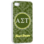 Alpha Sigma Tau Sorority iPhone 4/4s Case - Apple iPhone 4/4s Seamless Case (White)