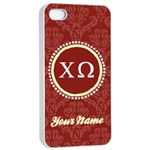 Chi Omega Sorority iPhone 4/4s Case - Apple iPhone 4/4s Seamless Case (White)