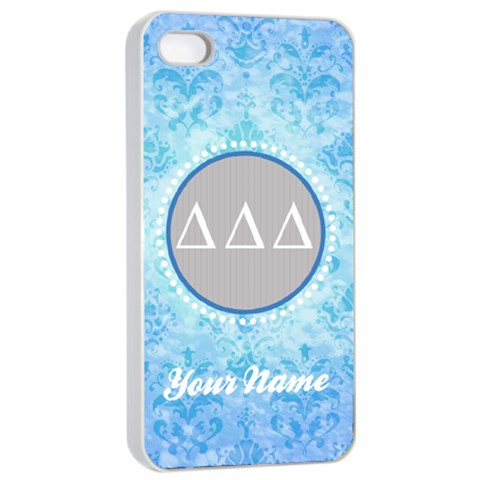 Delta Delta Delta Sorority Iphone 4/4s Case By Klh   Apple Iphone 4/4s Seamless Case (white)   Zom8fq7i69wj   Www Artscow Com Front