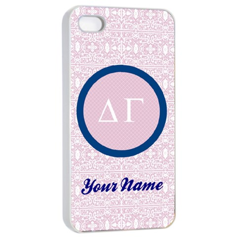 Delta Gamma Sorority Iphone 4/4s Case By Klh   Apple Iphone 4/4s Seamless Case (white)   Ewnwghqk0u18   Www Artscow Com Front