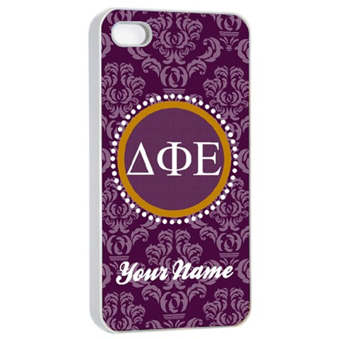 Delta Phi Epsilon Sorority Iphone 4/4s Case By Klh   Apple Iphone 4/4s Seamless Case (white)   Kj19rjezmeoo   Www Artscow Com Front