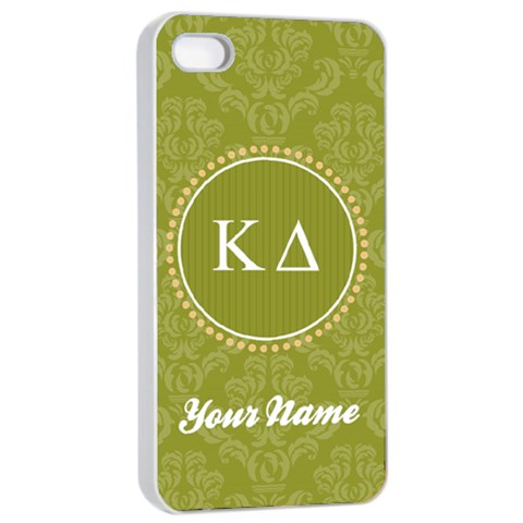 Kappa Delta Sorority Iphone 4/4s Case By Klh   Apple Iphone 4/4s Seamless Case (white)   Ruf2occt51z6   Www Artscow Com Front