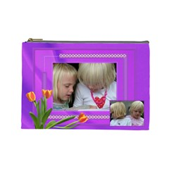 Happy Times 2 Large Cosmetic Bag By Deborah   Cosmetic Bag (large)   1i9jkxbbnrg1   Www Artscow Com Front