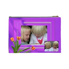 Happy Times 2 Large Cosmetic Bag By Deborah   Cosmetic Bag (large)   1i9jkxbbnrg1   Www Artscow Com Back
