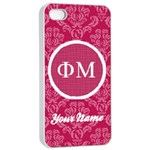 Phi Mu Sorority iPhone 4/4s Case - Apple iPhone 4/4s Seamless Case (White)